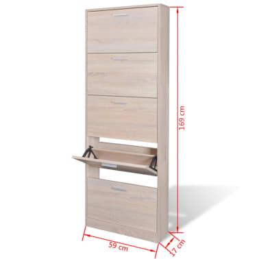 vidaXL Mueble zapatero color roble con 5 compartimentos[5/5]