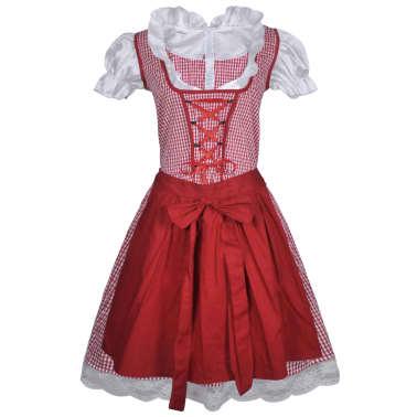vidaXL Dirndl jurk Oktoberfest met schort rood M/L[1/7]