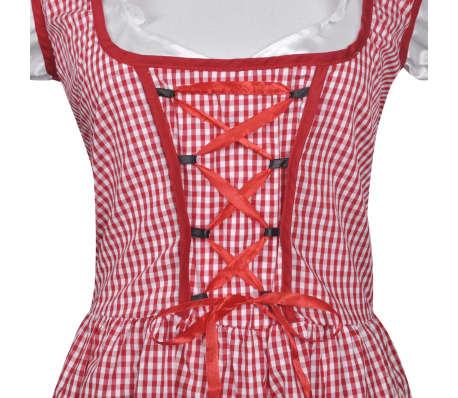 vidaXL Dirndl jurk Oktoberfest met schort rood M/L[4/7]