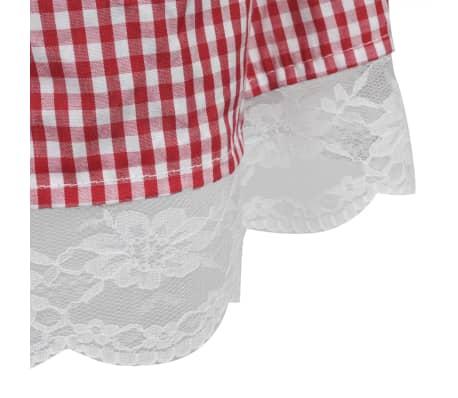 vidaXL Dirndl jurk Oktoberfest met schort rood M/L[6/7]