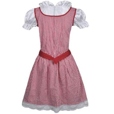vidaXL Dirndl jurk Oktoberfest met schort rood M/L[2/7]