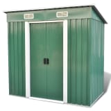 Green Pent Roof Metal Garden Shed Incl. Foundation 83 f3