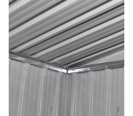 gartenhaus aus metall mit schleppdach und fundament gr n 2 35 m g nstig kaufen. Black Bedroom Furniture Sets. Home Design Ideas