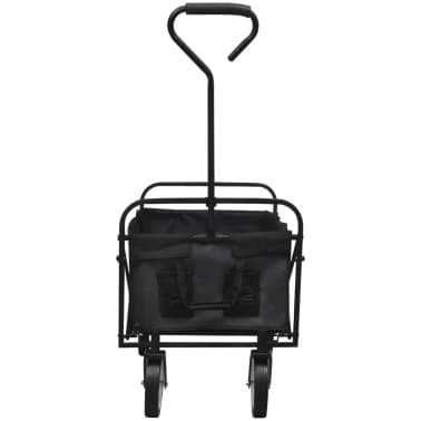 Black Foldable Garden Trolley[2/5]