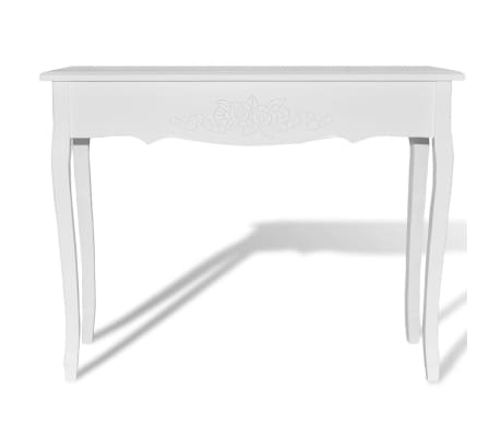 acheter vidaxl table de console et coiffeuse blanc pas. Black Bedroom Furniture Sets. Home Design Ideas