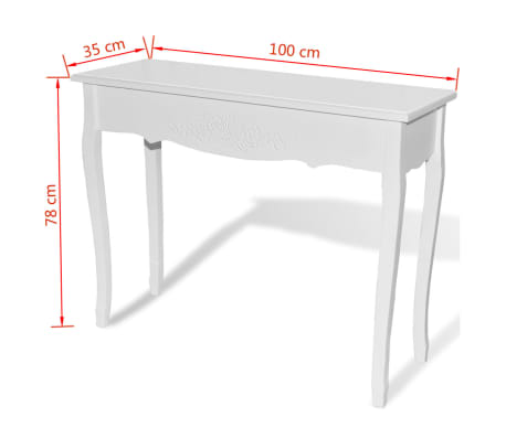 White Dressing Console Table[6/6]