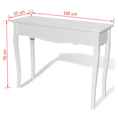 acheter vidaxl table de console et coiffeuse blanc pas cher. Black Bedroom Furniture Sets. Home Design Ideas