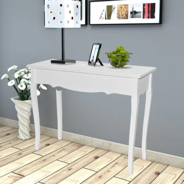 White Dressing Console Table[1/6]