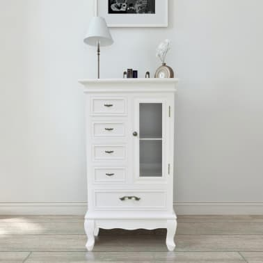 White Cabinet with 5 Drawers 2 Shelves[1/7]