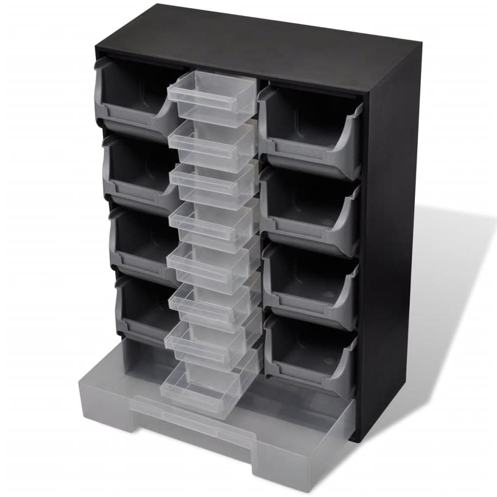 vidaXL 17-Drawer Tool Storage Organiser for Workshop Garage