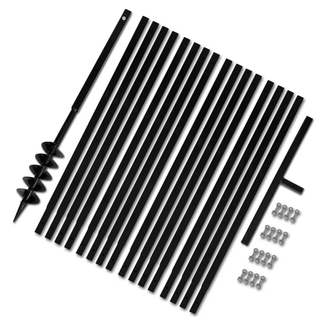 Afbeelding van vidaXL Grondboor 100 mm met 17 m verlengstuk Staal