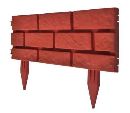 Verja separadora de césped color ladrillo 11 piezas