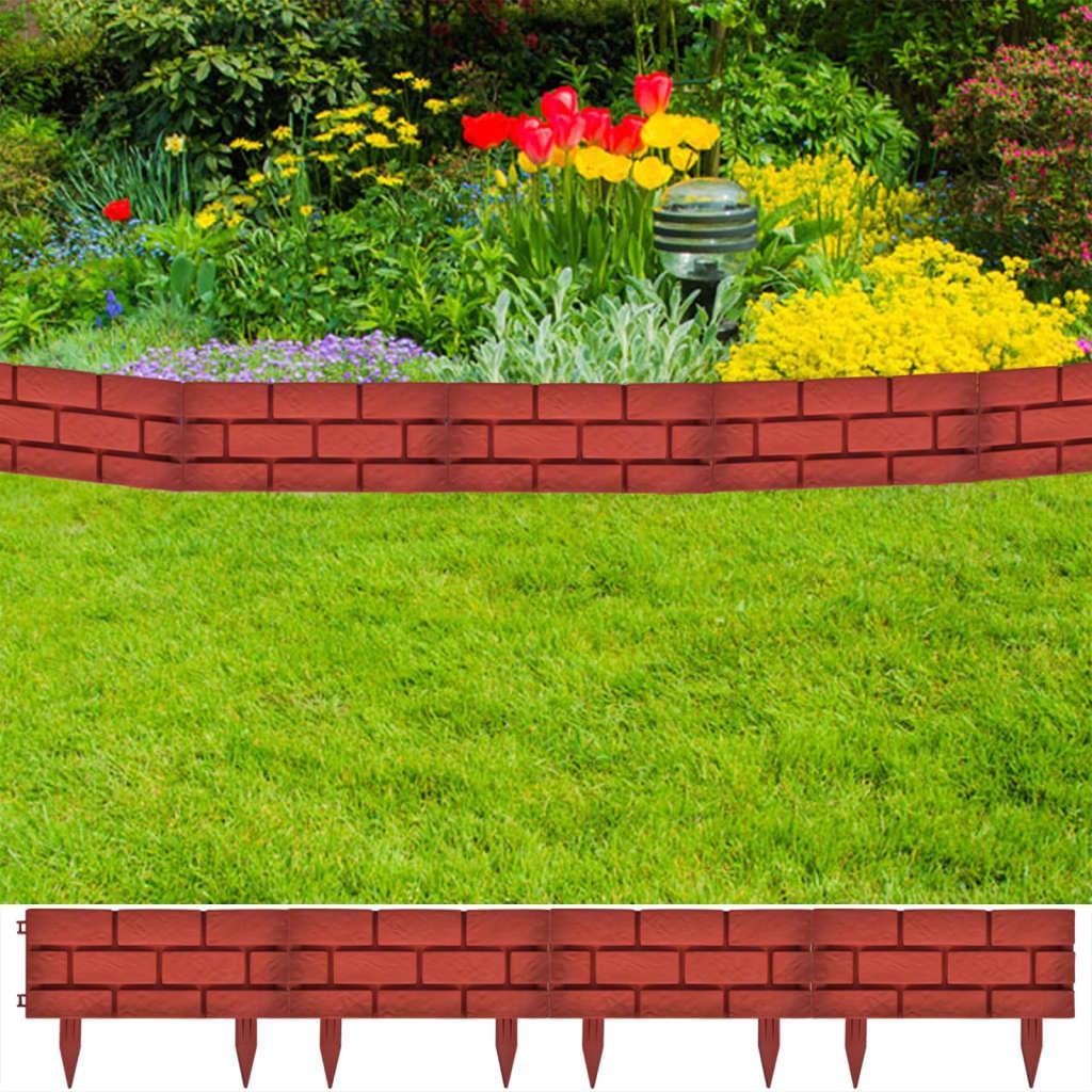 Gard pentru peluză Model cărămidă 11 buc imagine vidaxl.ro