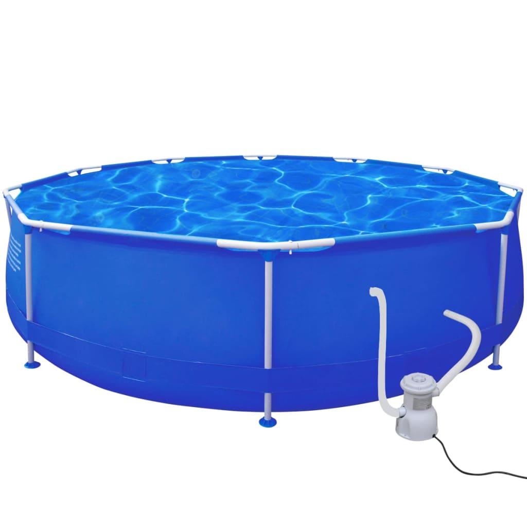 Kulatý bazén 360 x 76 cm s filtračním čerpadlem 300 gal / h