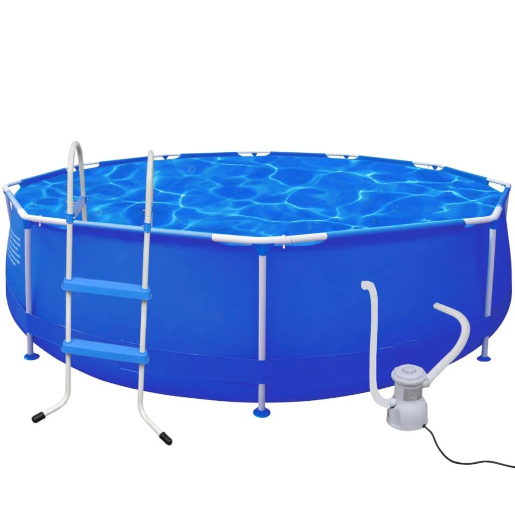 Kulatý bazén 360 x 76 cm s žebříkem a s filtračním čerpadlem
