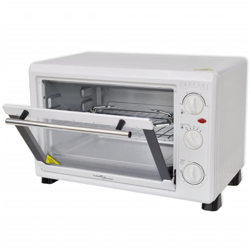 Mini cuptor 26 L 1500 W cu accesorii Alb vidaxl.ro