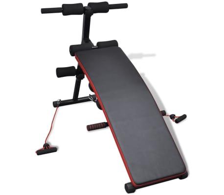 vidaXL Justerbar multifunktionell sit-up-bänk med 3 kg hantlar[2/5]