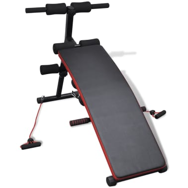 Adjustable Multifunctional Sit Up Bench with 6.6 lb Dumbbells[2/5]