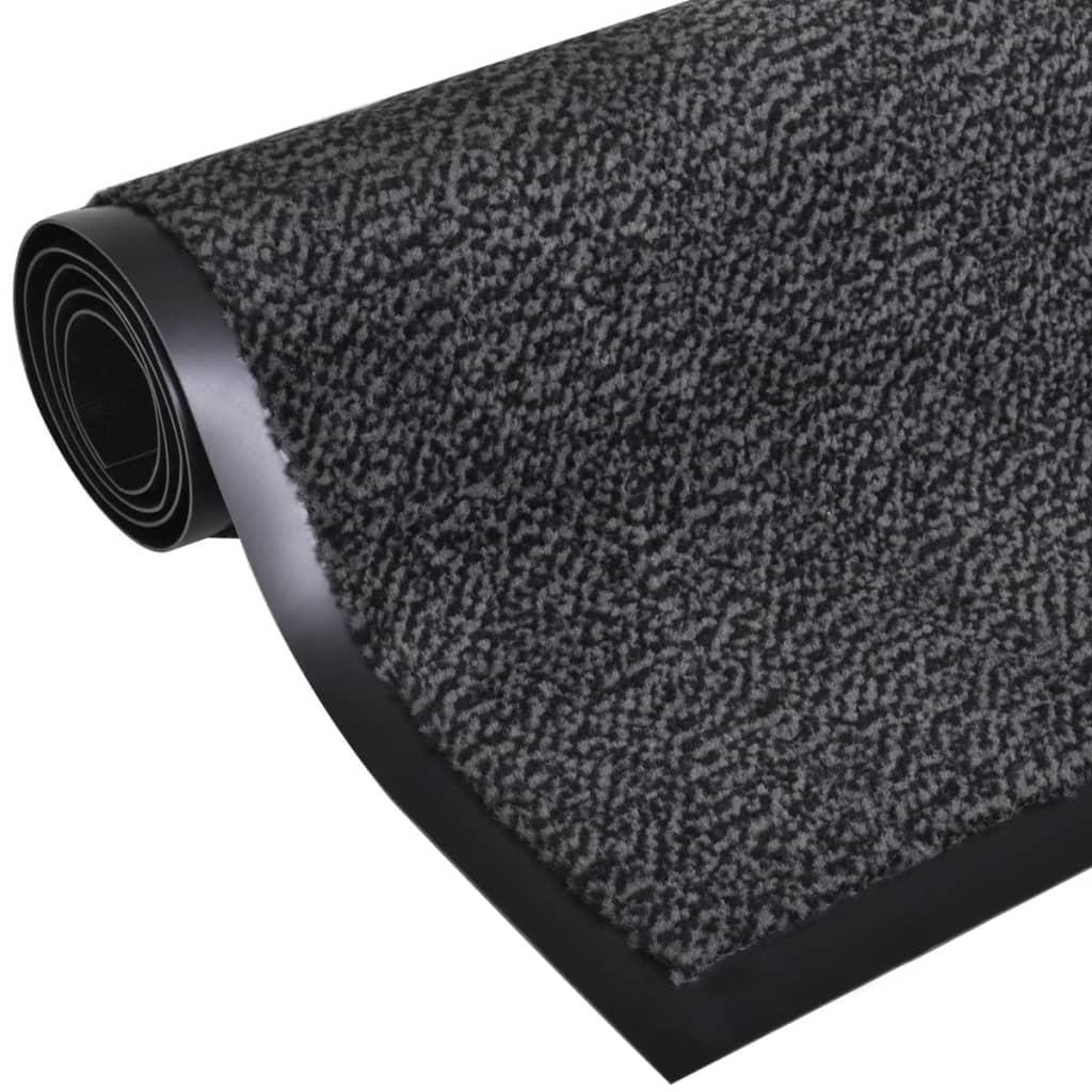 vidaXL Πατάκι απορροφητικό σκόνης ορθογώνιο 90 x 60 cm Ανθρακί