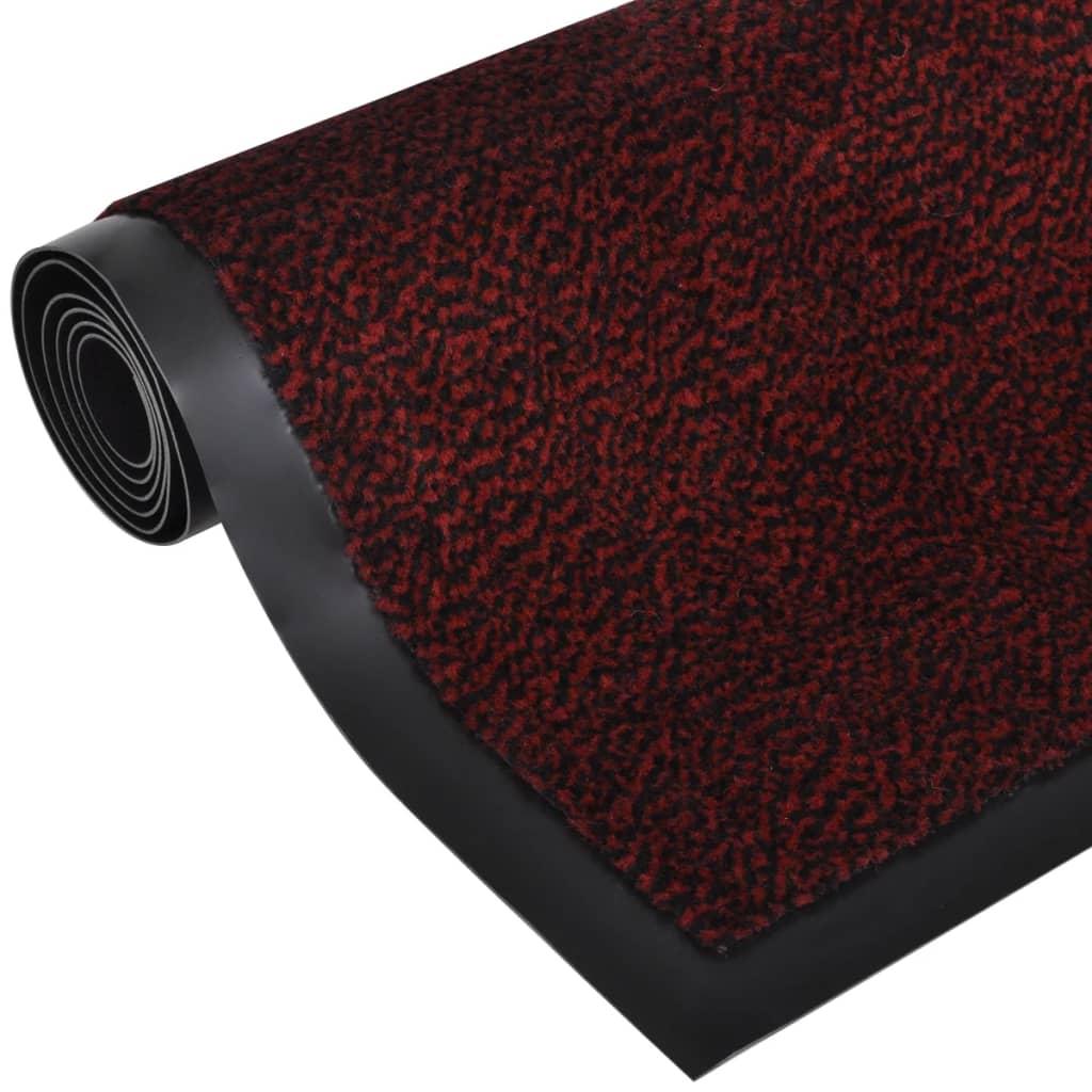 vidaXL Πατάκι Απορροφητικό Σκόνης Ορθογώνιο Κόκκινο 180 x 120 εκ.