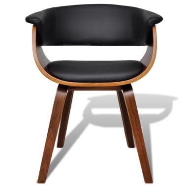 vidaXL Sillas de comedor 4 unidades madera curvada y cuero artificial[2/8]