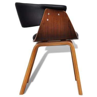 vidaXL Sillas de comedor 4 unidades madera curvada y cuero artificial[5/8]