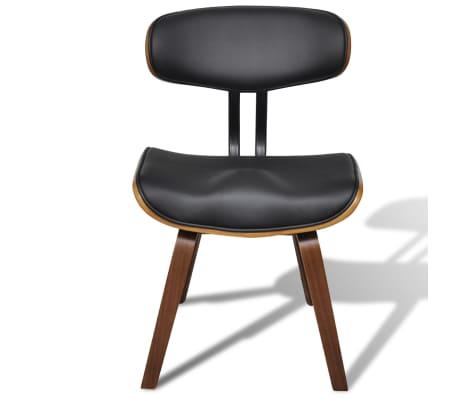 vidaXL Sillas de comedor 6 unidades madera curvada y cuero artificial[4/6]