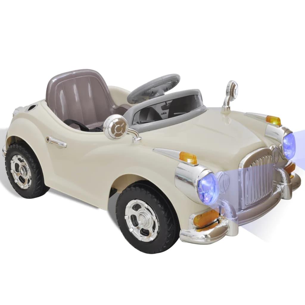 Dětské auto na baterie (béžové)