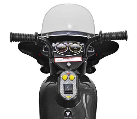 vidaXL Åkmotorcykel batteridriven svart[3/6]