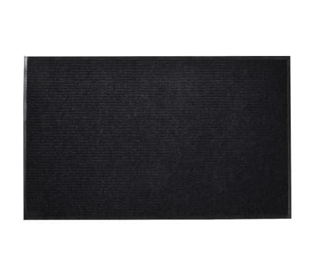 """Black PVC Door Mat 35"""" x 24"""""""