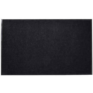 "Black PVC Door Mat 35"" x 24""[1/6]"