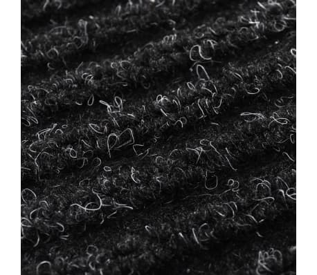"Black PVC Door Mat 35"" x 24""[6/6]"