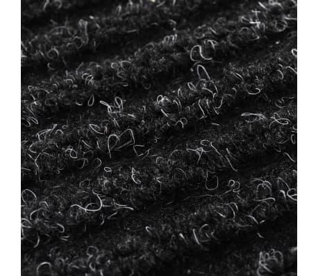 Tapis d'entrée en PVC Noir 90 x 60 cm[6/6]