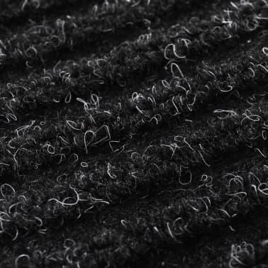 """Black PVC Door Mat 35"""" x 47""""[6/6]"""