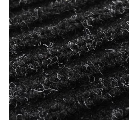 "Black PVC Door Mat 35"" x 59""[6/6]"