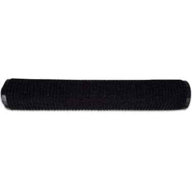 """Black PVC Door Mat 47"""" x 71""""[4/6]"""