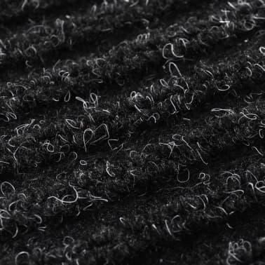 """Black PVC Door Mat 47"""" x 71""""[6/6]"""