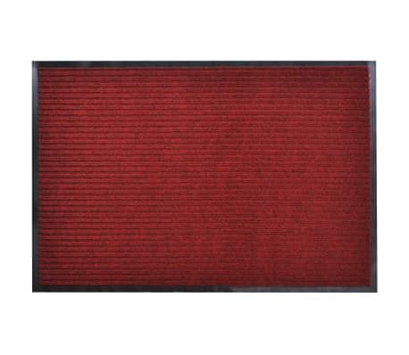 "Red PVC Door Mat 2' 9"" x 1' 9""[1/6]"