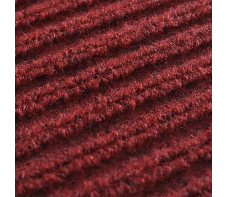 "Red PVC Door Mat 2' 9"" x 1' 9""[6/6]"