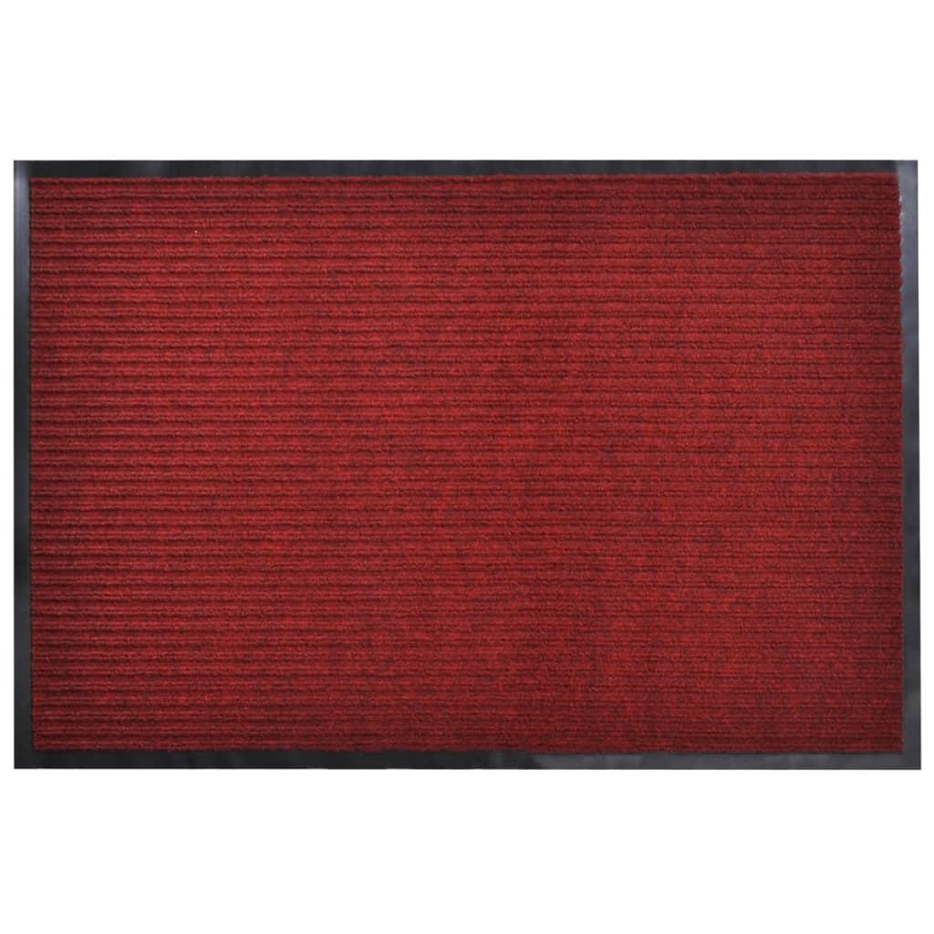 Červená PVC rohožka 90 x 120 cm