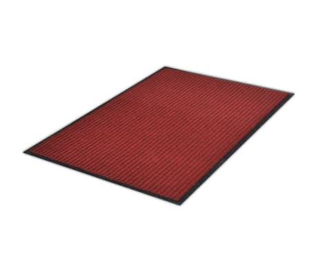 """Red PVC Door Mat 2' 9"""" x 3' 9""""[3/6]"""