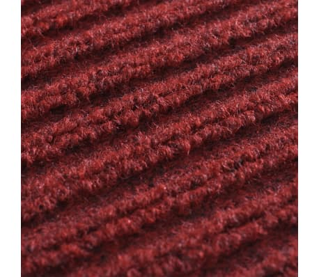 """Red PVC Door Mat 2' 9"""" x 3' 9""""[6/6]"""