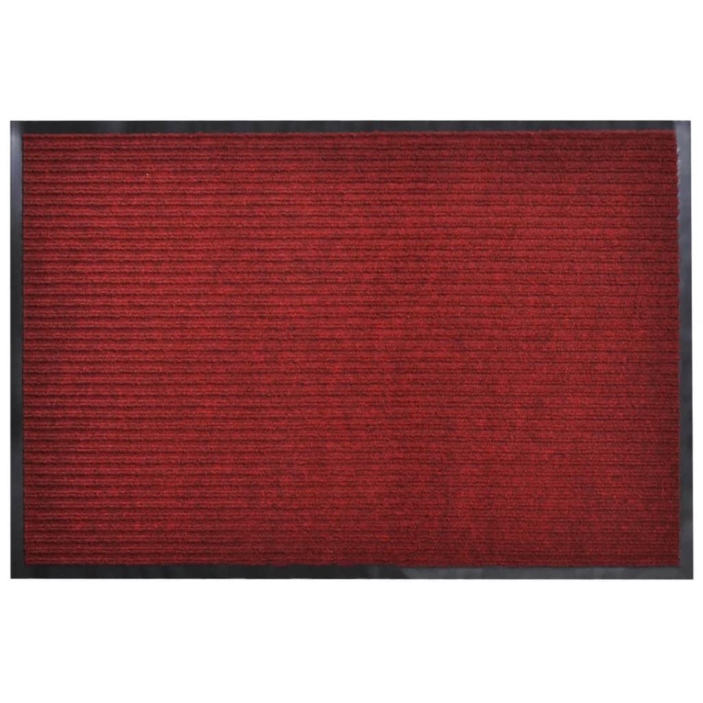 Červená PVC rohožka 90 x 150 cm