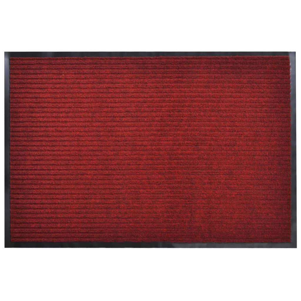 Červená PVC rohožka 120 x 180 cm