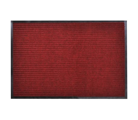 "Red PVC Door Mat 3' 9"" x 5' 9""[1/6]"