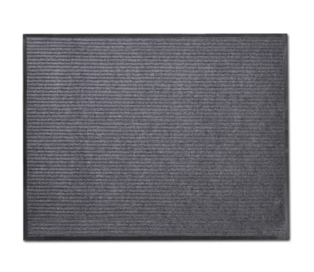 "Gray PVC Door Mat 2' 9"" x 1' 9""[1/6]"