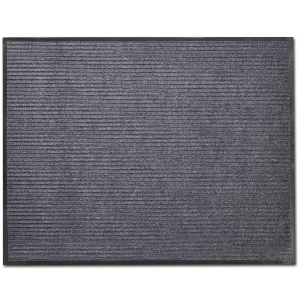 Šedá PVC rohožka 90 x 120 cm