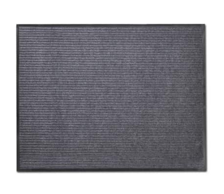 """Gray PVC Door Mat 2' 9"""" x 4' 9""""[1/6]"""