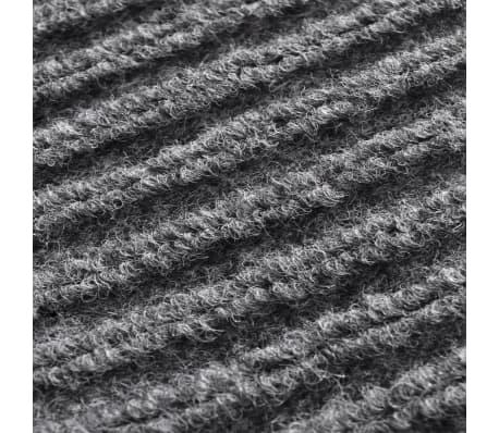 """Gray PVC Door Mat 2' 9"""" x 4' 9""""[6/6]"""