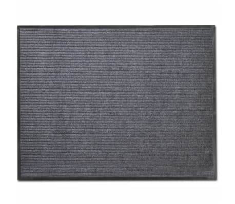"Gray PVC Door Mat 3' 9"" x 5' 9"""